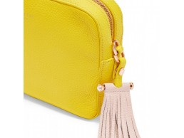 حقيبة تيد بيكر Yellow Salia Tassel Leather Crossbody|  متجر radawonders